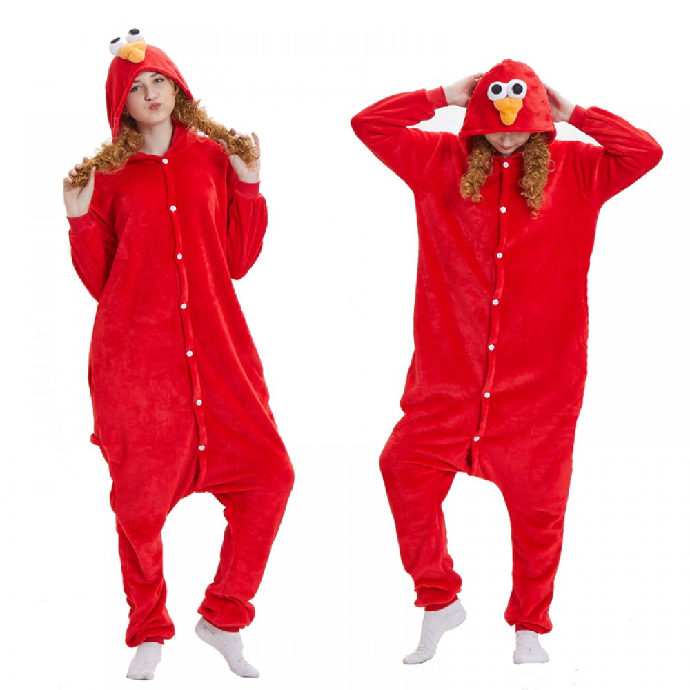 Elmo Sesame Street Onesie Pajamas For Adult Animal Costume