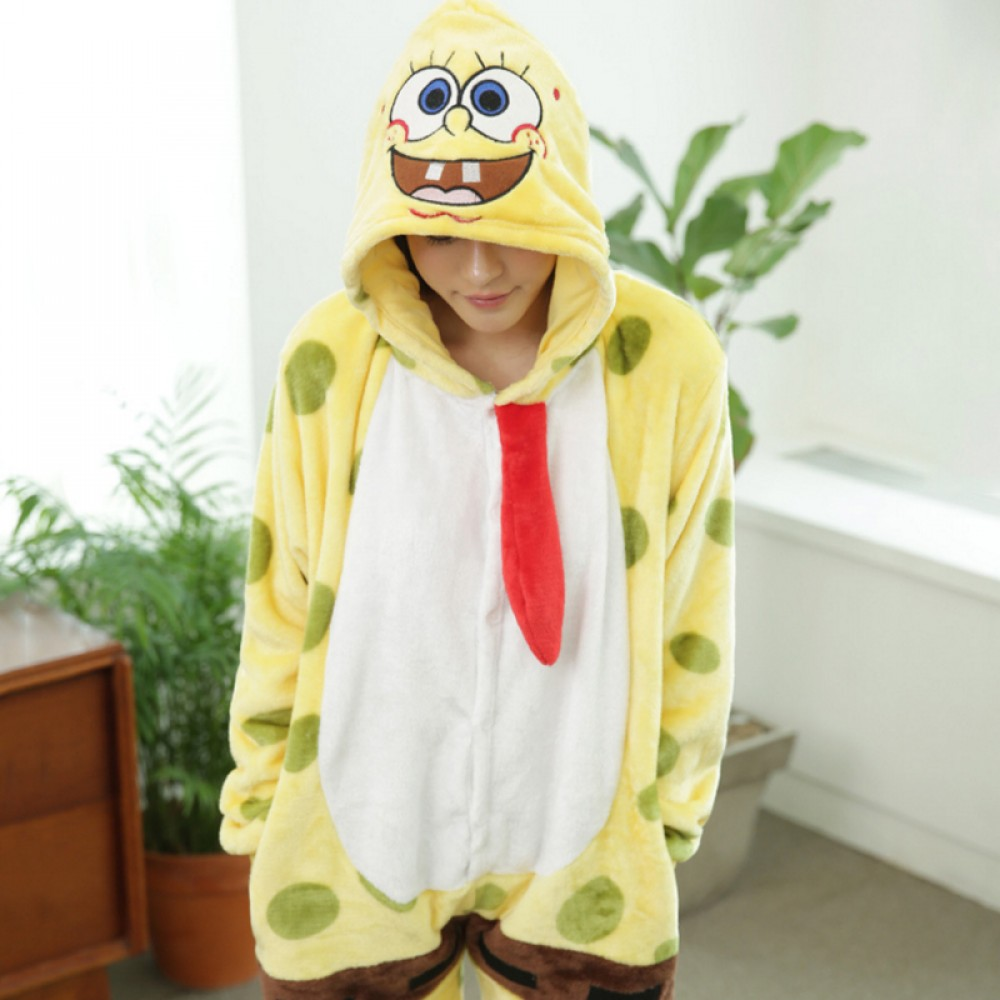 Spongebob Onesie Pajamas Soft Amp Cozy Adult Animal Onesies