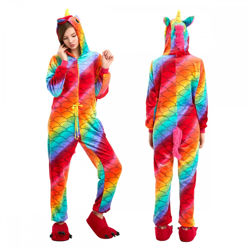 Scale Unicorn Onesie Pajamas For Women Amp Men Quality Animal Costume For Sale