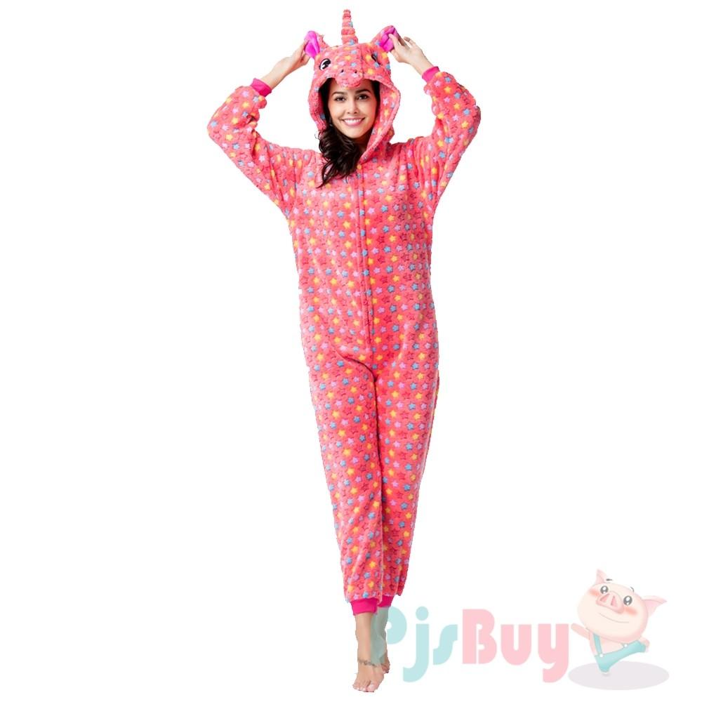 Red Star Onesie Pajamas Costumes Adult Animal Onesies Zip