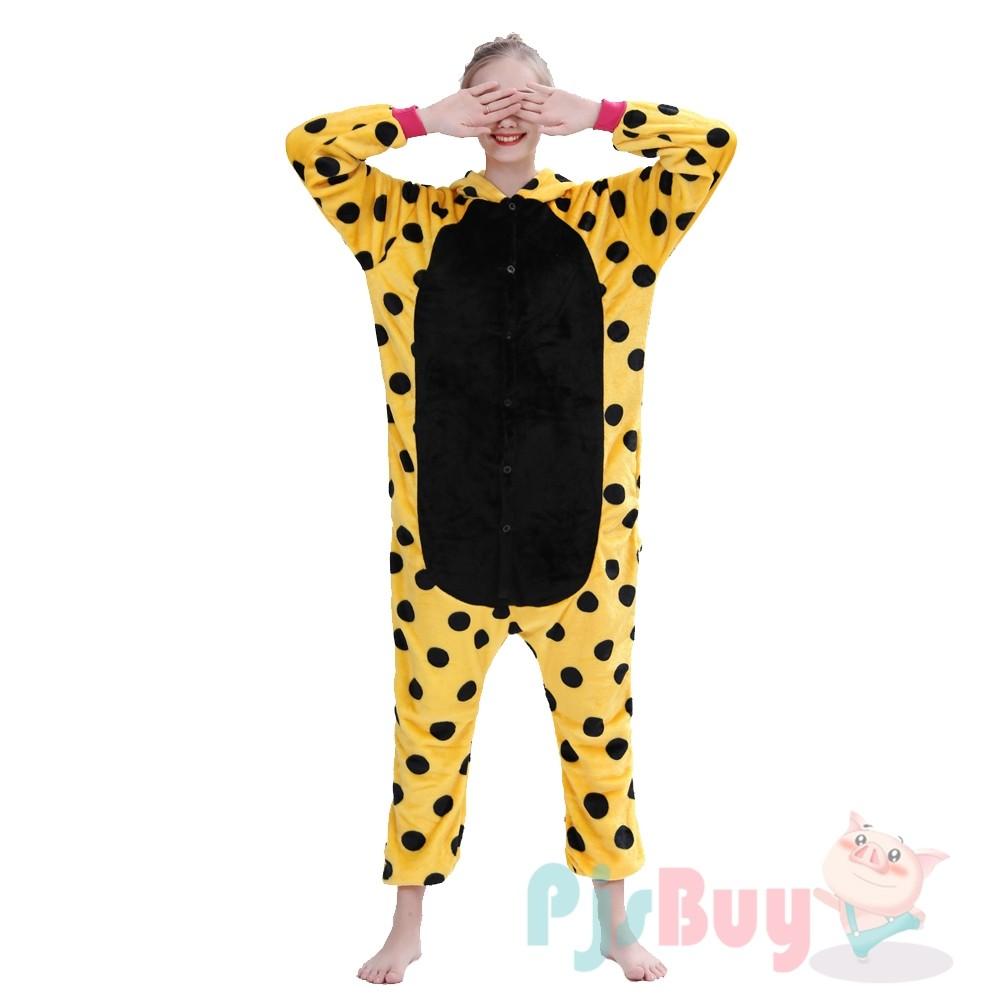 Yellow Spot Unicorn Onesie Pajamas Costumes Adult Animal ...