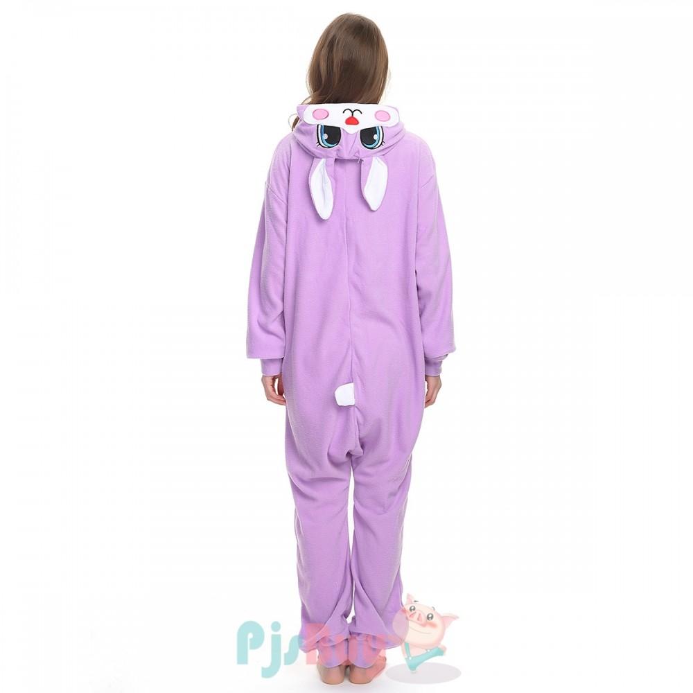 Adult Animal Onesies Purple Bunny Onesie Pajamas On Hot Sale