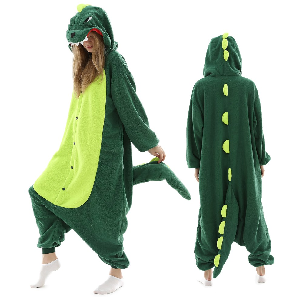 Dinosaur Onesie Pajamas for Adult Animal Onesies Halloween ...
