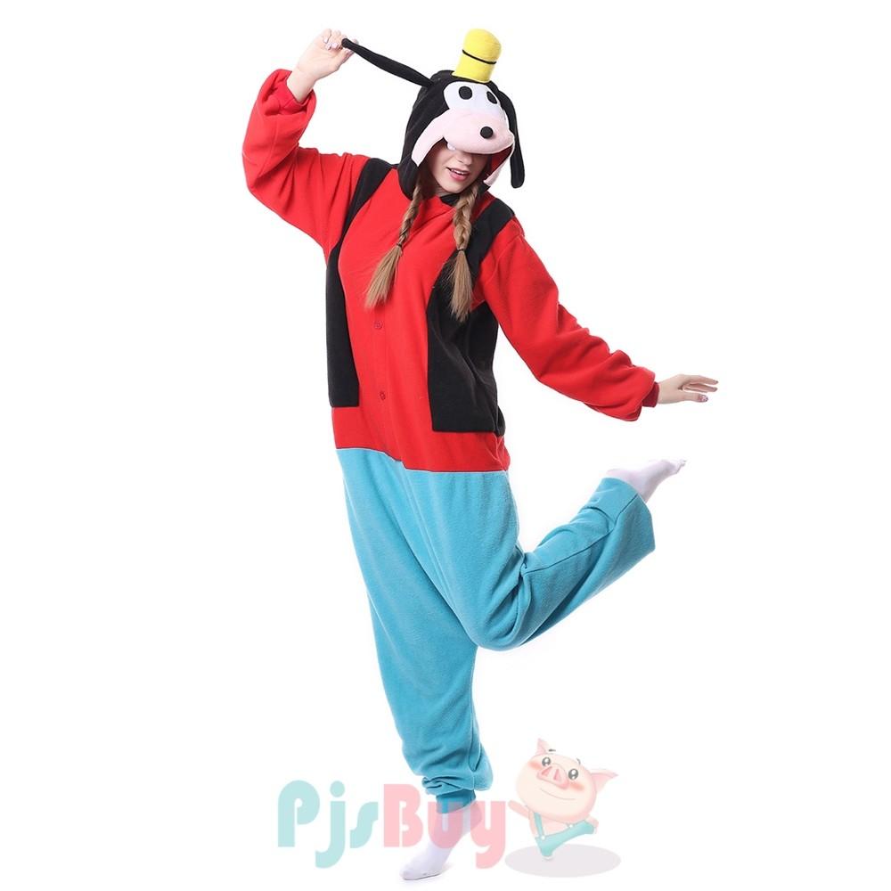 Goofy Onesie Pajamas For Adult Animal Onesies Cosplay Halloween Costumes Pjsbuy Com