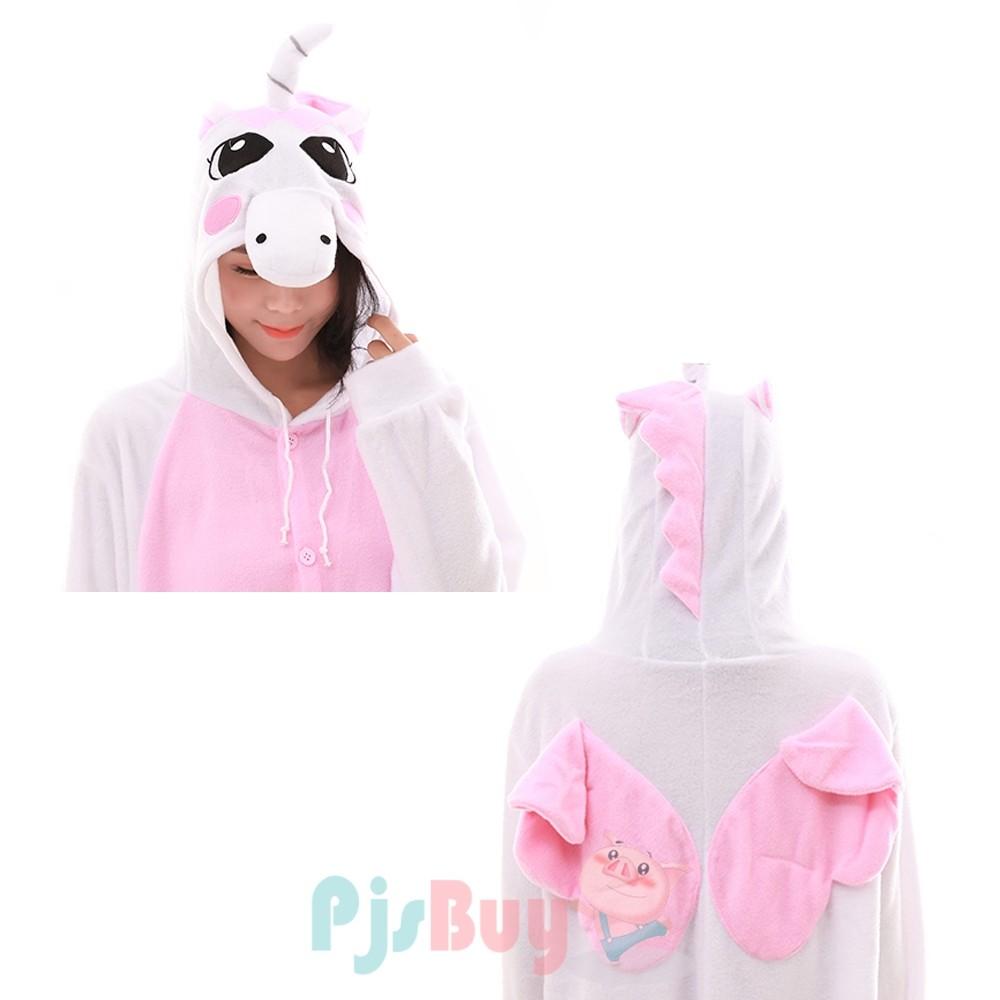 Pink Unicorn Onesie Pajamas for Adult Animal Onesies ...