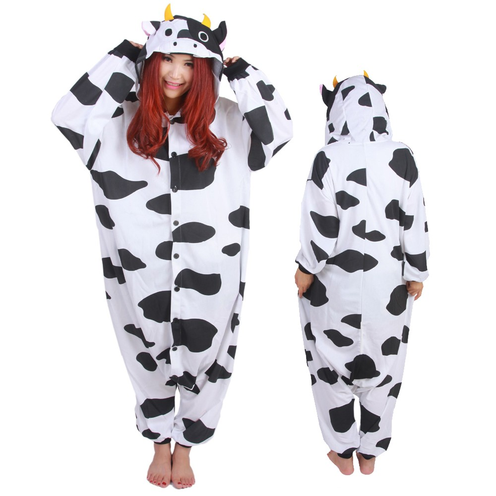 Cow Onesie Pajamas for Adult Animal Onesies Cosplay ...