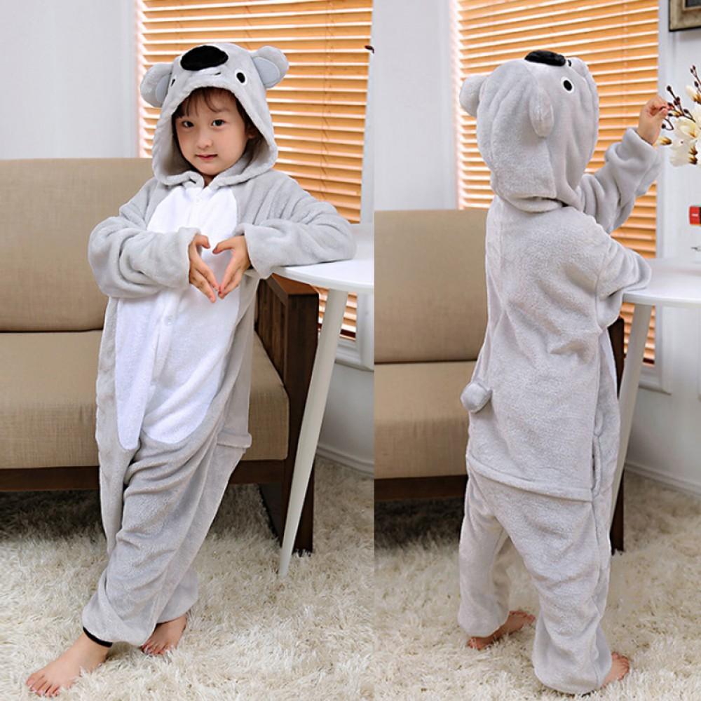 2512dec9 Koala Kids Animal Onesie Pajamas Cosplay Cute Costume