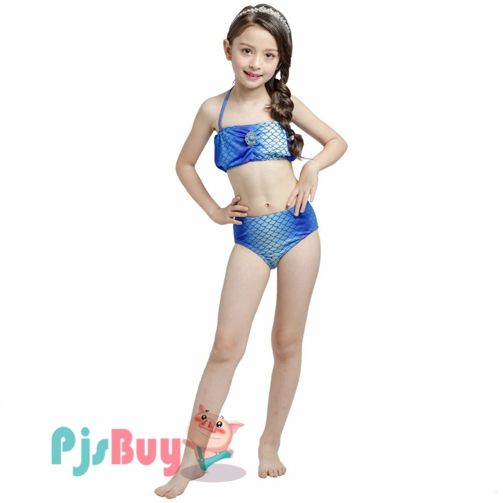 0bf161e0530 Swimmable Mermaid Swimsuit For Girls Blue Mermaid Swimming Bathing Suit  Bikini Sets