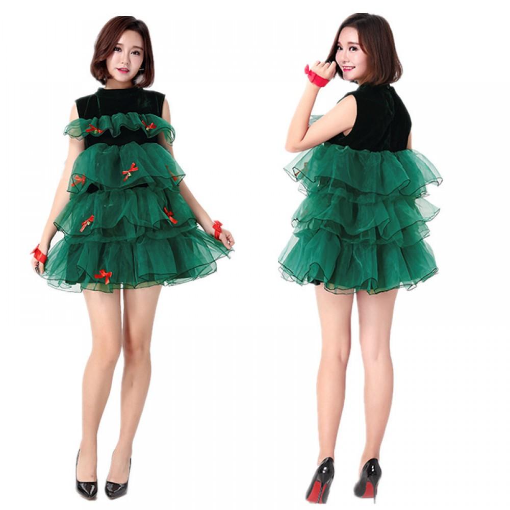 Christmas Tree Dress Costume: Christmas Tree Costume Womens Christmas Costumes Dress