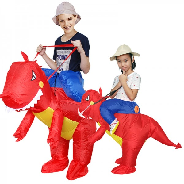 Inflatable Adult & Kids Blow Up T Rex Dinosaur Halloween Costumes Suit