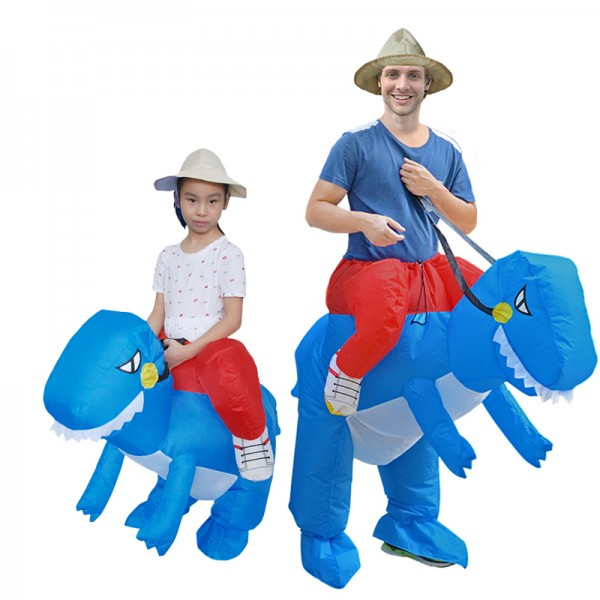 Blow Up Inflatable Dinosaur T Rex Halloween Costumes Suit For Adults & Kids