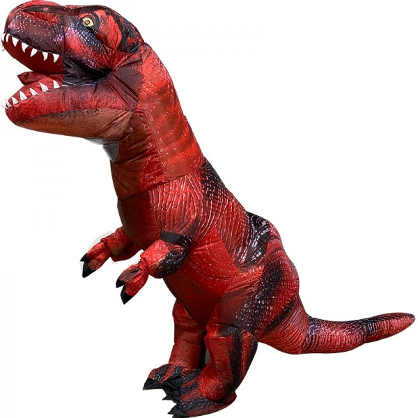 Blow Up Costume Inflatable Red T Rex Dinosaur Costumes Halloween Funny Suit For Adult