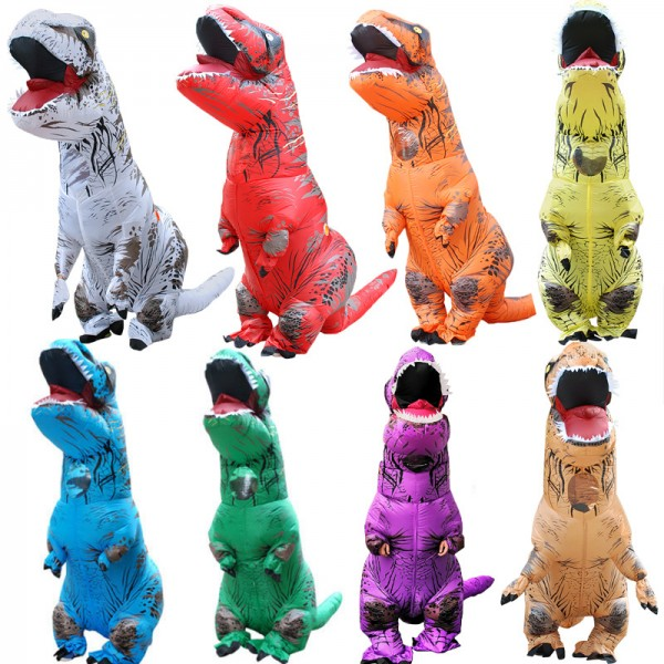 Inflatable T Rex Dinosaur Costumes Blow Up Funny Halloween Party Costumes For Adults & Kids
