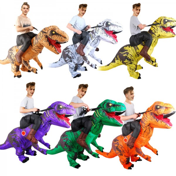 Inflatable Dinosaur Costumes Halloween Funny Suit Blow Up T Rex Costume For Adult