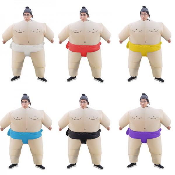 Blow Up Inflatable Sumo Wrestler Costume Halloween Suit For Adult & Kids