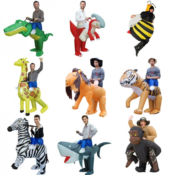 Blow Up Inflatable Animal Costumes Halloween Funny Suit for Adult