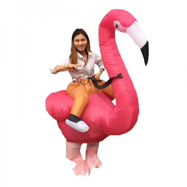 Blow Up Inflatable Flamingo Costumes Halloween Animal Funny Suit for Adult