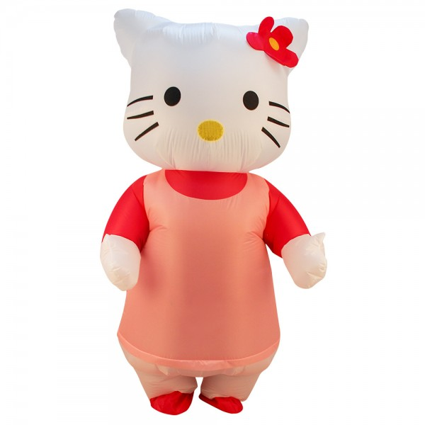 Inflatable Hello Kitty Blow Up Costumes Party Halloween Animal Funny Suit for Adult