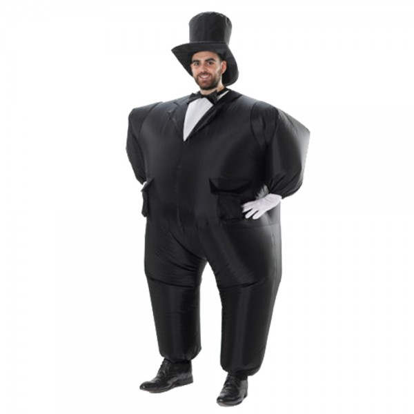 Inflatable Mens Black Suits Blow Up Costumes Party Halloween Animal Funny Suit for Adult
