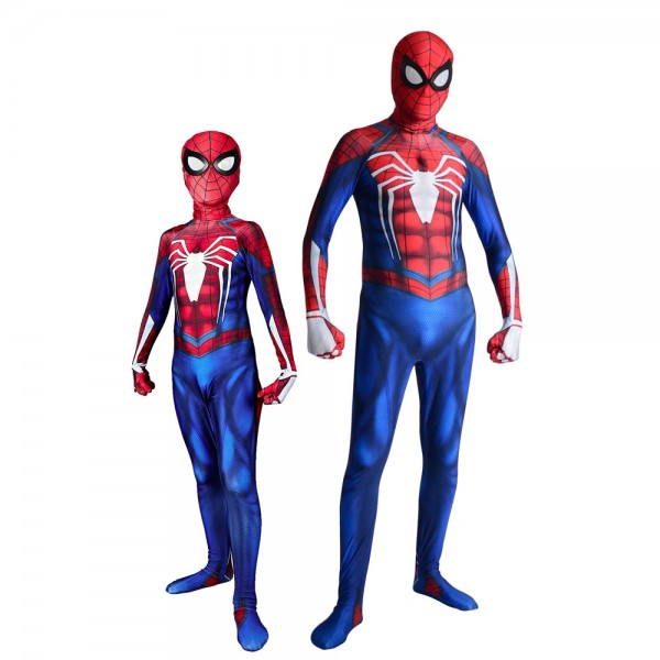 Ps4 Advanced Spider Man Suit Spiderman Costume Halloween Cosplay for Kids & Adult Costumes Spandex Zentai