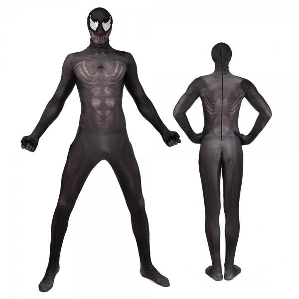 Black Venom Spiderman Cosutme Adult & Kids Cosplay Spandex Suit Zentai