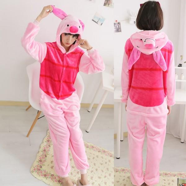 Piglet Onesie Adult Onesie Pajamas Winnie the Pooh Costume