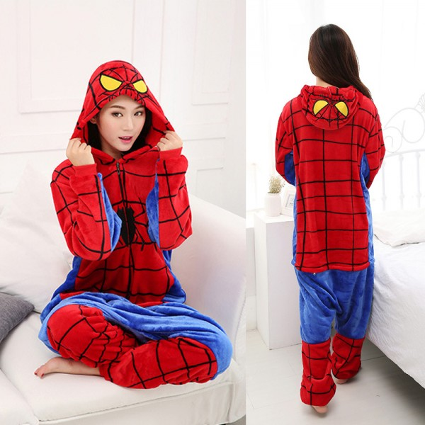 Spiderman Adult Animal Onesie Pajamas Super Hero Costume