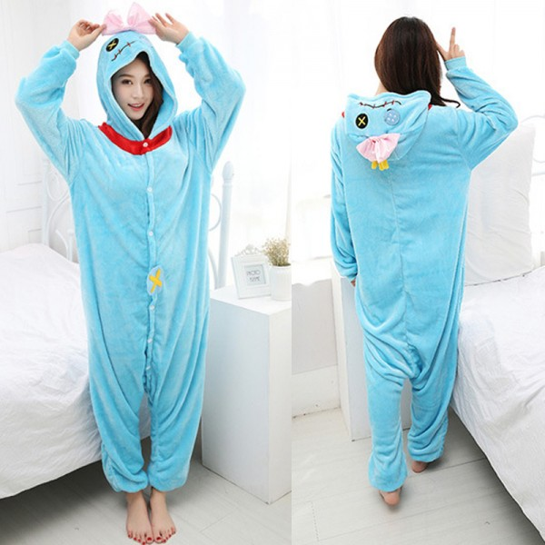 Scrump the Doll Adult Animal Onesie Pajamas Lilo & Stitch Costume