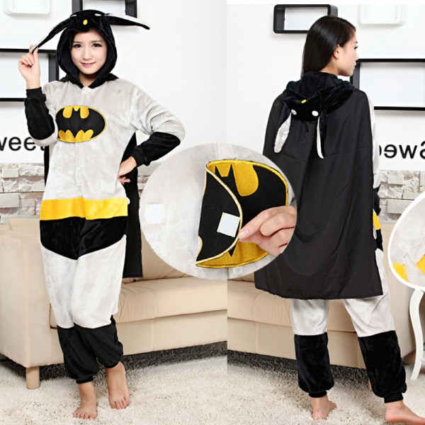 Batman Adult Animal Onesie Pajamas Super Hero Costume