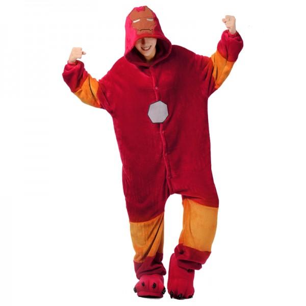 Iron Man Adult Animal Onesie Pajamas Super Hero Costume