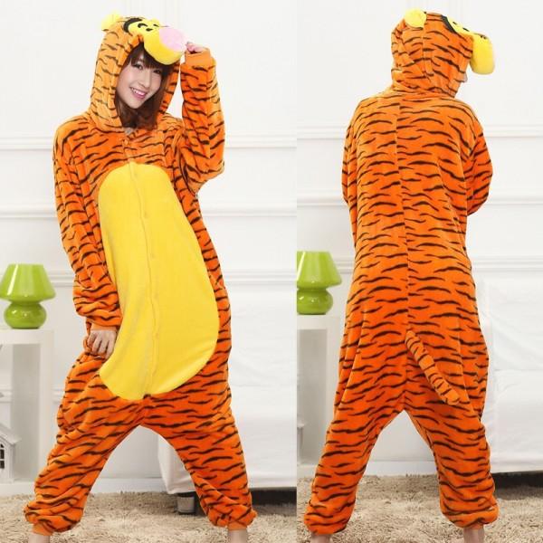 Tigger Adult Animal Onesie Pajamas Winnie the Pooh Costume