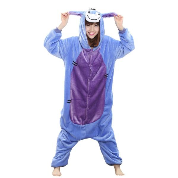 Eeyore Donkey Adult Animal Onesie Pajamas Winnie the Pooh Costume