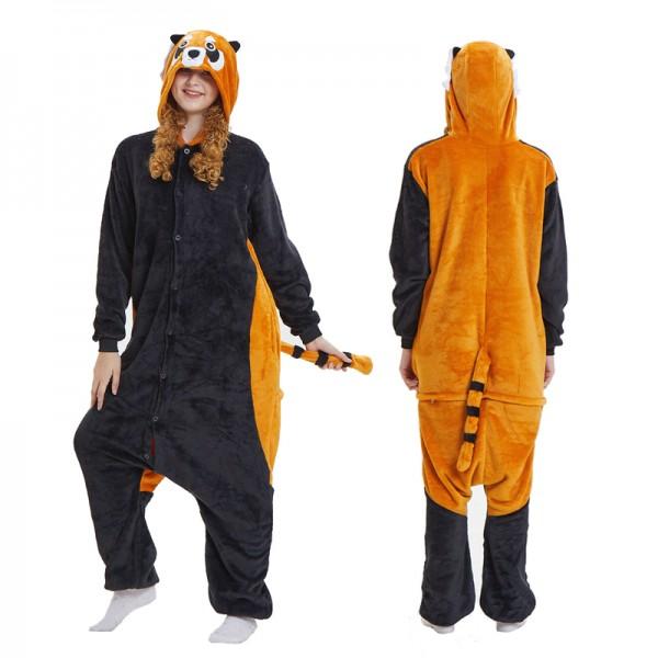 Red Panda Womens & Mens Animal Onesie Pajamas Costume