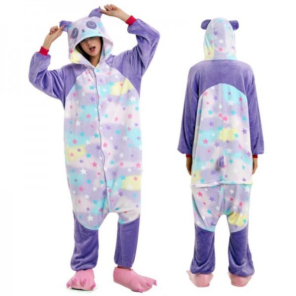 Star Panda Adult Animal Onesie Pajamas Costume