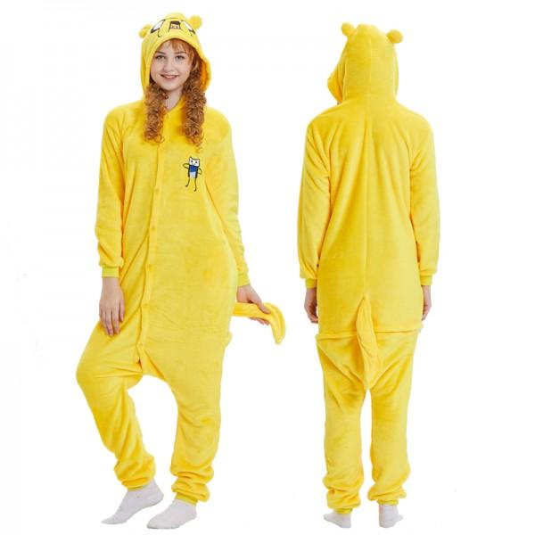 Jake Dog Adult Animal Onesie Pajamas Adventure Time Costume