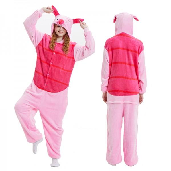 Piglet Adult Animal Onesie Pajamas Winnie the Pooh Costume