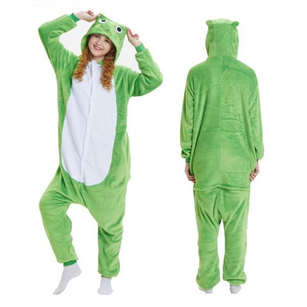 Green Frog Adult Animal Onesie Pajamas Costume