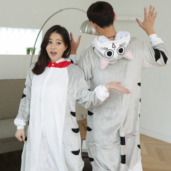 Cheese Cat Adult Animal Onesie Pajamas Costume