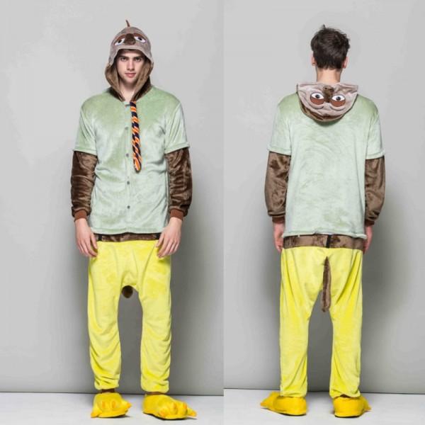 Flash Sloth Adult Animal Onesie Pajamas Zootopia Costume