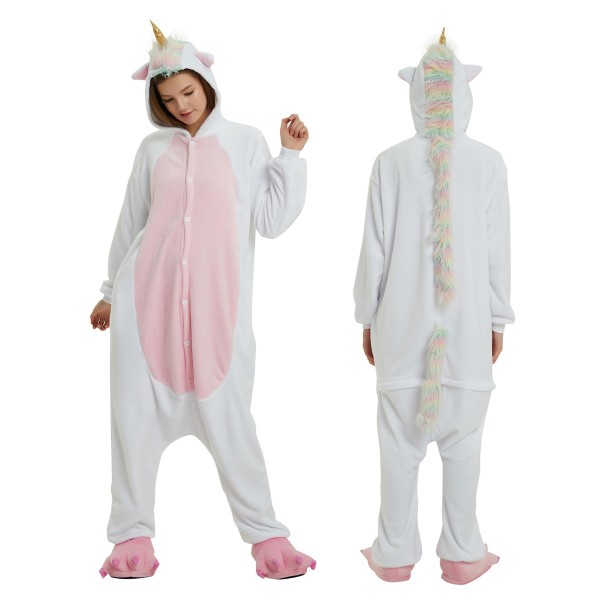White Unicorn Onesie Anime Animal Onesies for Adult