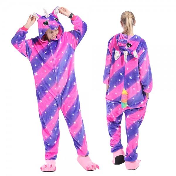 Purple Rainbow Unicorn Onesie Pajamas Costumes Adult Animal Onesies