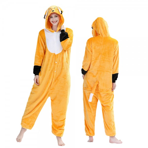 Fox Onesie Pajamas Costumes Adult Animal Onesies Button Closure