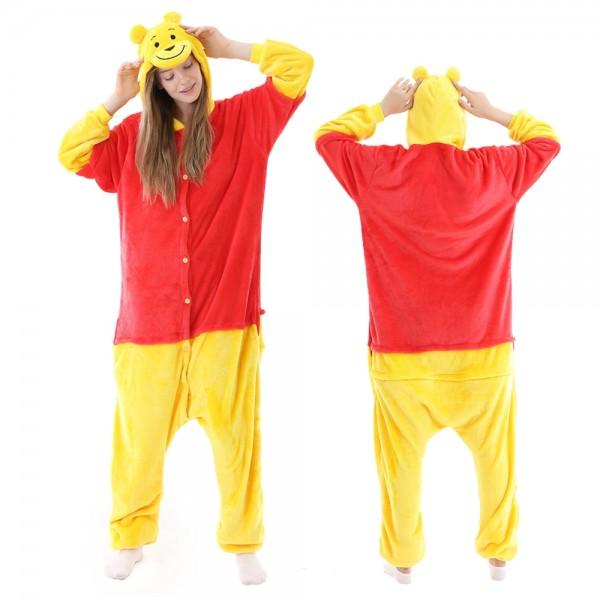 Winnie the Pooh Bear Onesie Pajamas Adult Animal Onesies Halloween Costumes