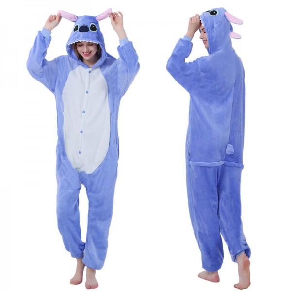 Stitch Onesie for Women & Men Flannel Pajamas Animal Onesies