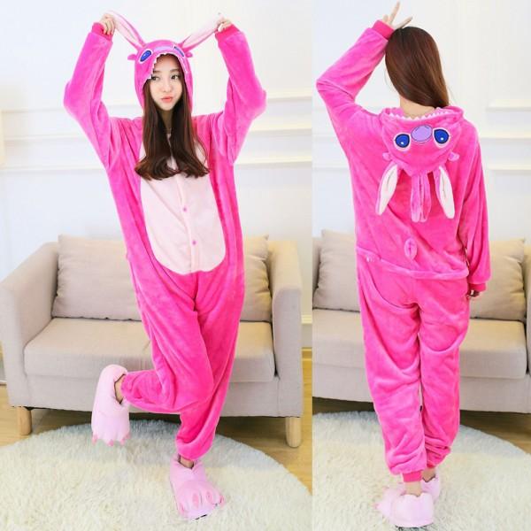 Stitch Onesie Pajamas Adult Animal Onesies Lilo & Stitch Halloween Costumes