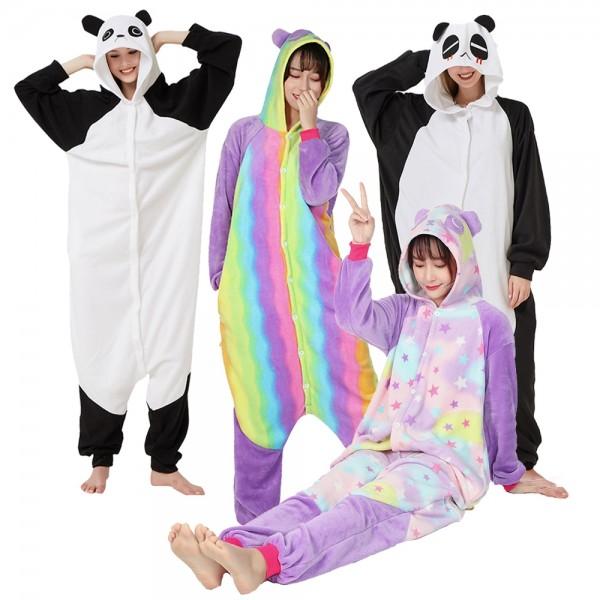 Panda Onesie Pajamas Adult Animal Onesies Halloween Costumes