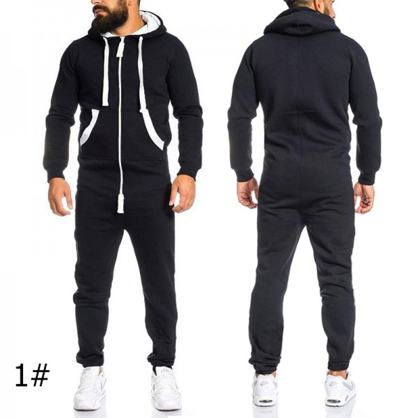 Adult Onesie for Men Hooded Jumpsuit, Available in 4 Colors