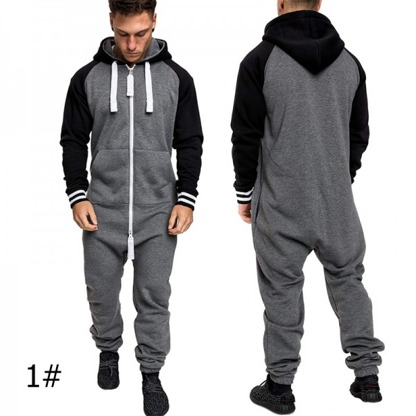 Mens Onesie Adult Hooded Jumpsuit, Available in 5 Styles