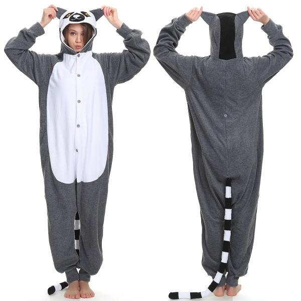 Lemur Onesie Pajamas Adult Animal Onesies