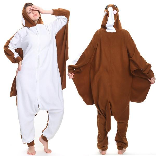 Flying Squirrel Onesie Pajamas Adult Animal Onesies